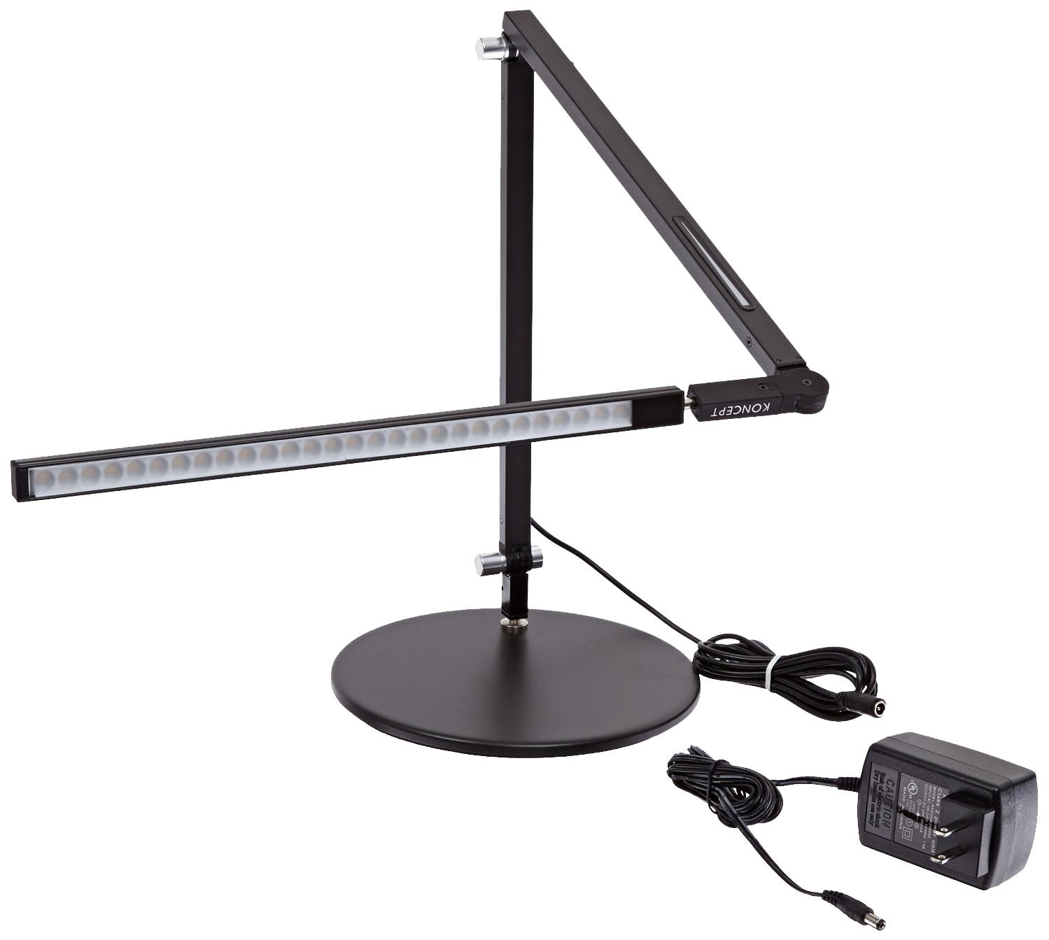 Koncept AR3000-W-MBK-DSK Z-Bar LED Desk Lamp, Warm Light, Metallic Black by Koncept