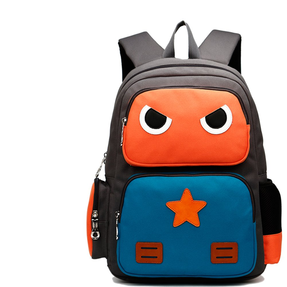 hflove子two-six Years Oldキュート快適ポリエステル繊維Schoolbag  orange&blue B01AXGHCQK