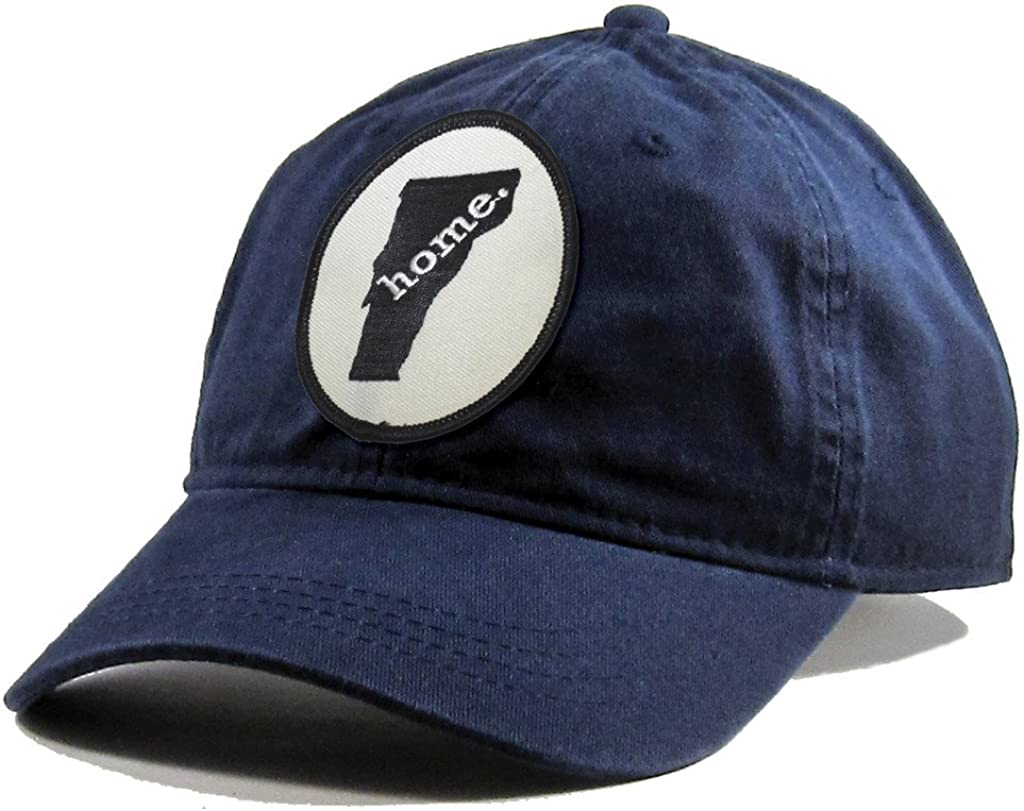 Homeland Tees Mens Vermont Home Patch Navy Cotton Twill Hat