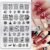 Doinshop Christmas Snowflacke Fashion DIY Nail Art Image Stamp Stamping Plates Manicure Template