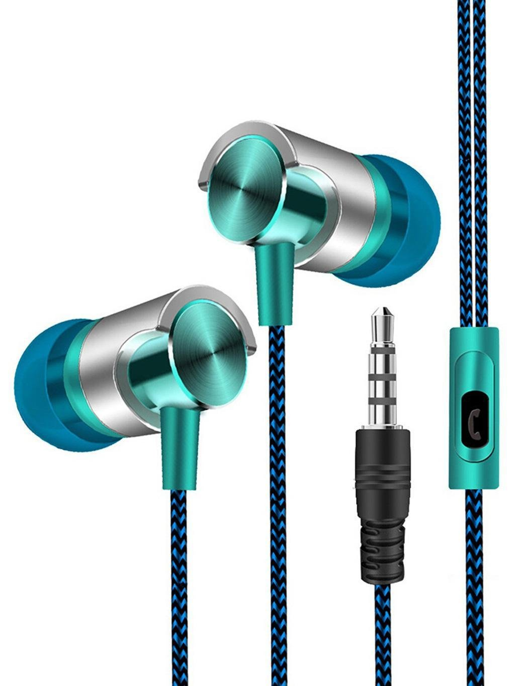 3.5mm Wired Stereo Earphone In-Ear Headphones with Microphone For Phone/MP3