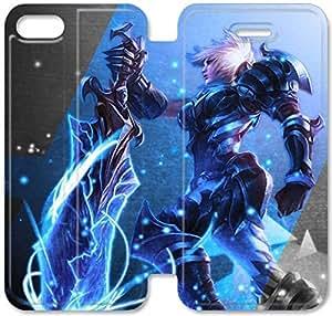 Campeonato Riven E9R97R4 iPhone 6 6S Plus 5.5 del caso del tirón del cuero funda A2U28N1 caja del teléfono del cuero funda de diseño personalizado