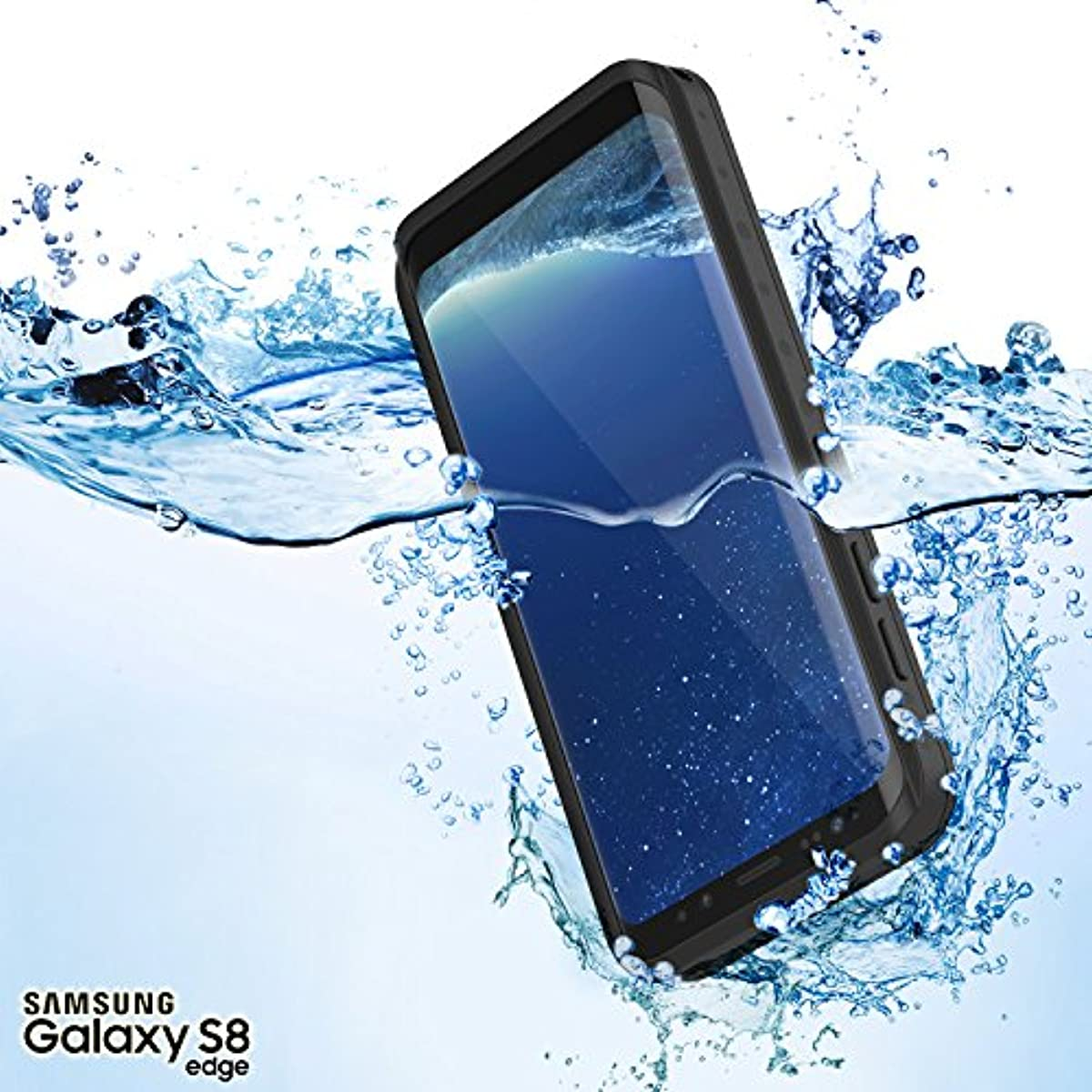new arrivals e76e5 bc914 Galaxy S8 Waterproof Case, Punkcase [StudStar Series] [Slim Fit] [IP68  Certified] [Shockproof] [Dirtproof] [Snowproof] Armor Cover for Samsung  Galaxy ...