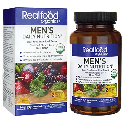 Country Life Realfood Organics - Men's Daily Nutrition Multivitamin - 120 Easy-to-Swallow ()