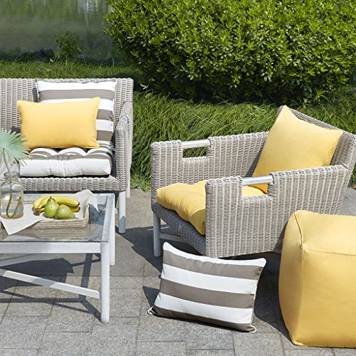 Martha Stewart Patio Set - Madison Park Pacifica Solid 3M Scotchgard Outdoor Seat Cushion for Patio Garden and Courtyard, 20