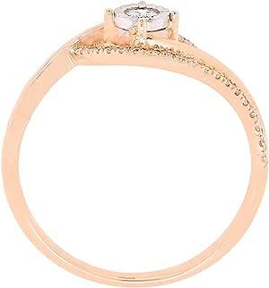 Carat Craft Ribbon Miracle Plate Ring, Rose Gold,7US