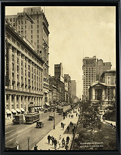 42nd Street East from 6th Avenue Print 17.88