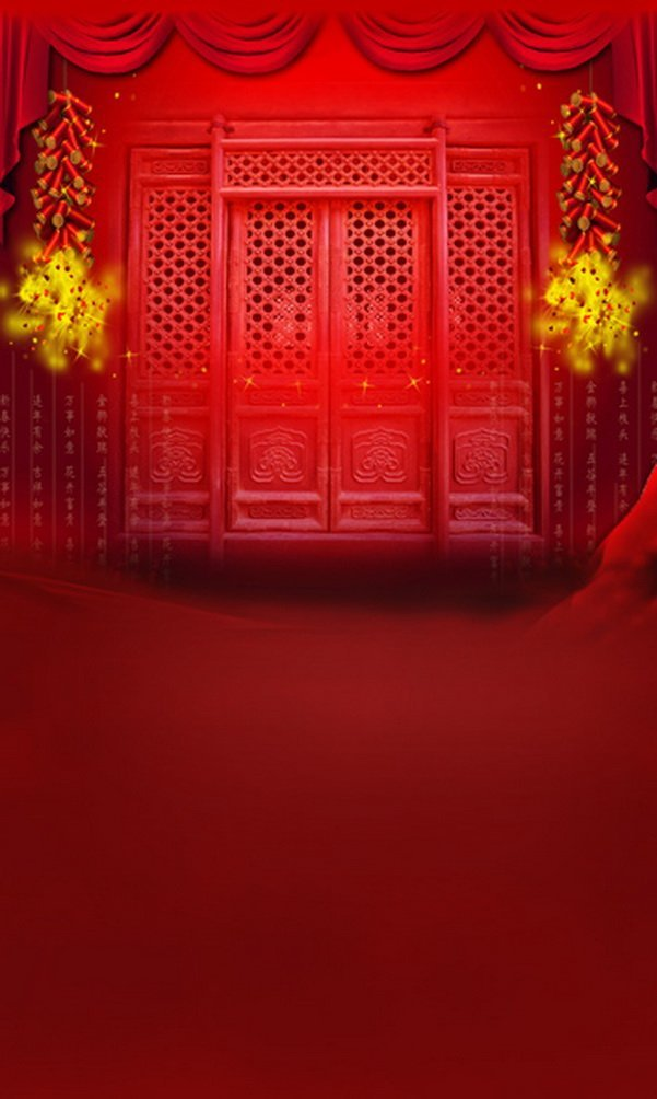 Chinese Traditionalレッドドア床写真Backdrops写真小道具Studio背景5 x 7ft   B01G6D0DJC