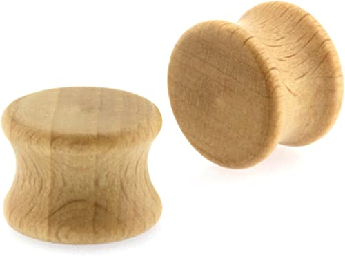 Sold as a Pair Two Tone Wood Solid Plug