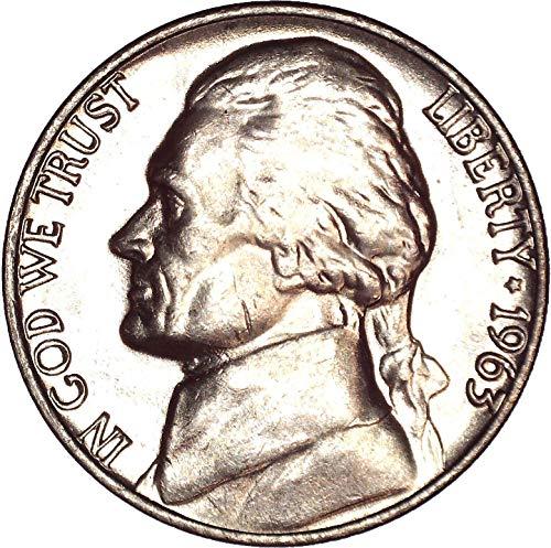 1963 Jefferson Nickel 5C Brilliant Uncirculated (Jefferson Nickel Mint Ngc)