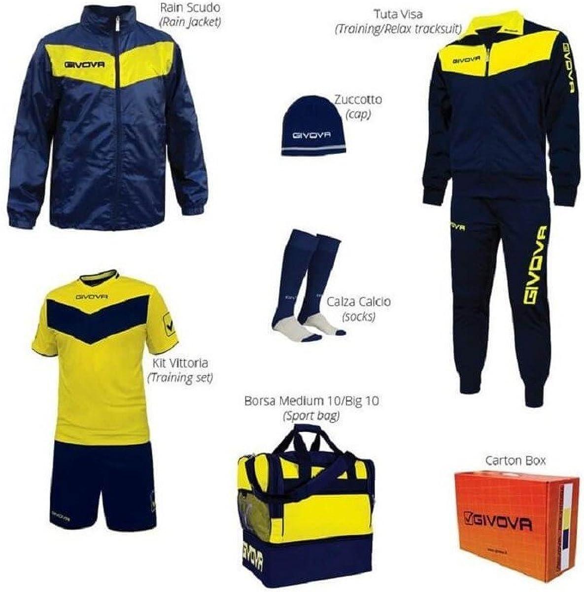 givova - Kit Completo de Equipamiento para fútbol Vittoria Box ...