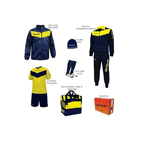 givova - Kit Completo de Equipamiento para fútbol Vittoria Box, Unisex Adulto, Box Vittoria