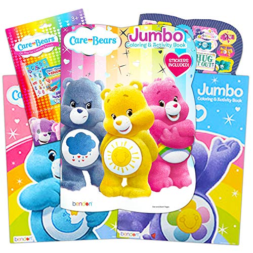 Bendon Care Bears Jumbo Color and Activity (96 Pages, Set Of 4 Books) ()