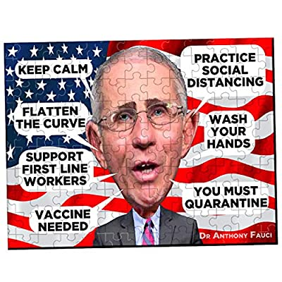 Dr Anthony Fauci COVID-19 Advice Puzzle Relax Wash Your Hands Do Puzzles: Toys & Games