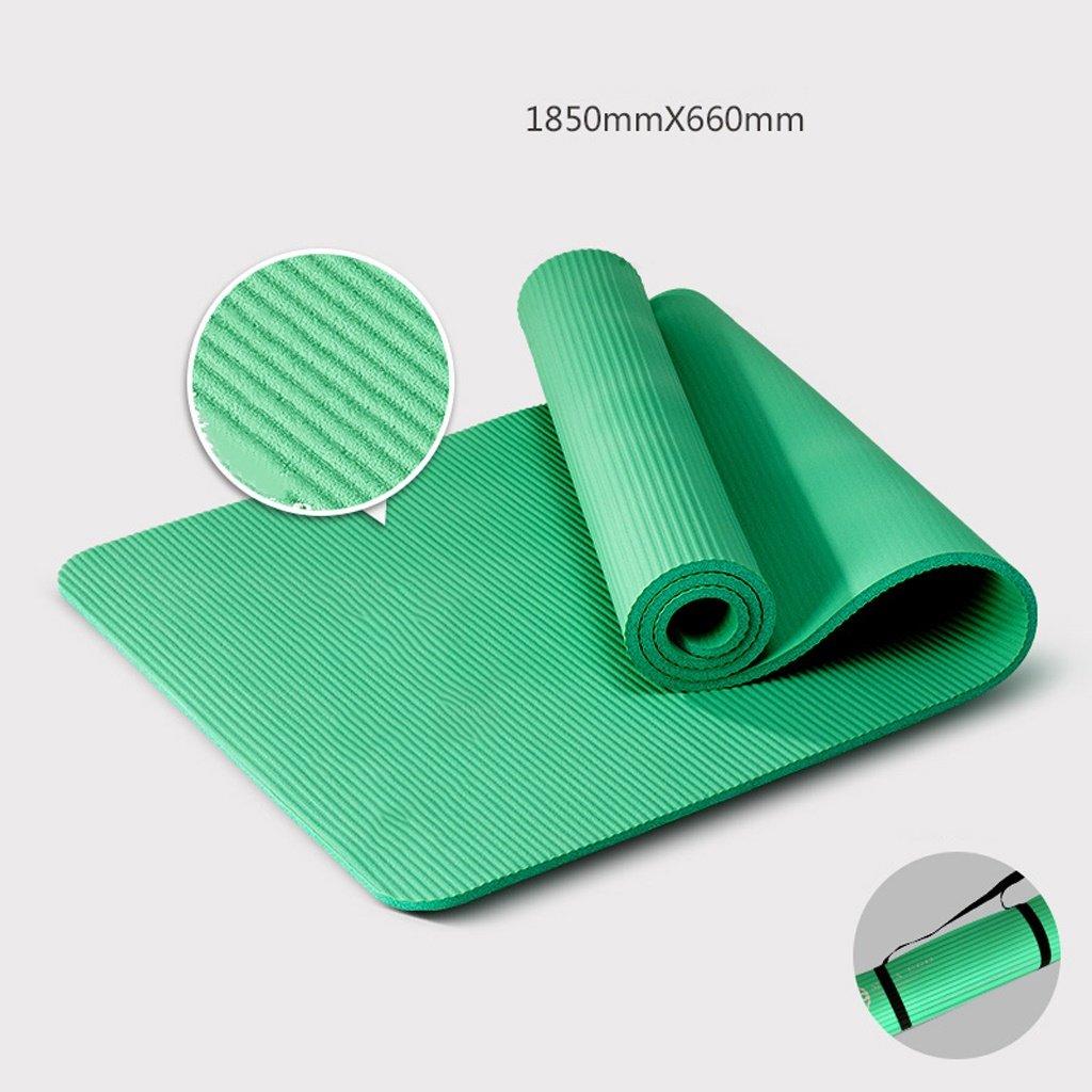 vert B Pique-Nique Tapis de Yoga Insipide, Tapis de Yoga de 185cmX66cm, Tapis de débutant de Forme Physique, Tapis de Yoga de Tapis de Forme Physique d'allongeHommest