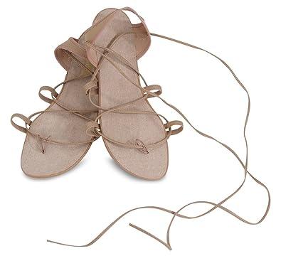 119be37f662e Danshuz Women s Hermes Strap Thong Tan Sandals ...
