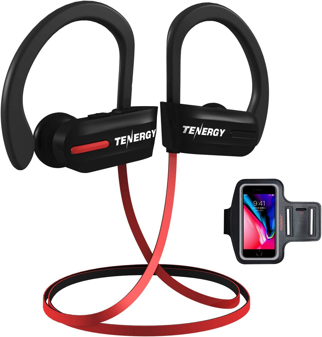 Amazon Com Tenergy T20 Wireless Bluetooth Headphones Ipx7 Sweatproof Running Earphones Noise Canceling 8 Hour Working Time In Ear Bluetooth V4 1 Stereo Earbuds With Mic Bonus Sport Armband Electronics