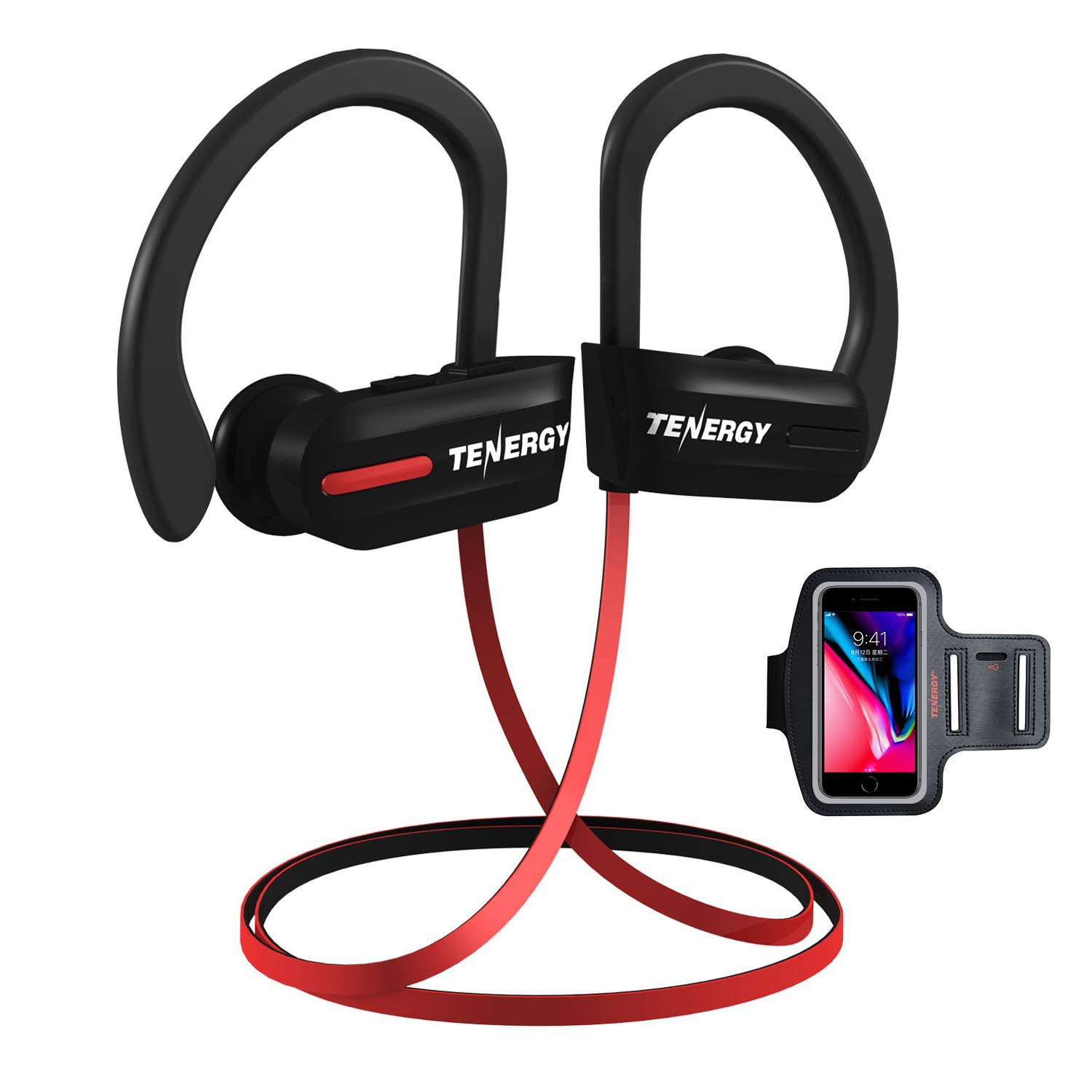 3a19082b178 Tenergy T20 Bluetooth Wireless Headphones, IPX7 Sweatproof Sports Earphones  for Running, Noise Canceling 8-Hour Working Time, in-Ear Bluetooth V4.1  Stereo ...