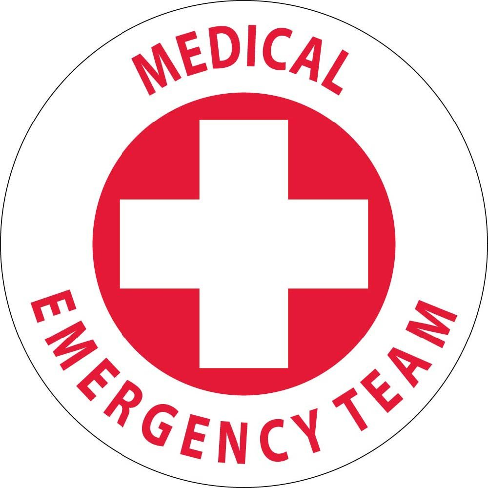 HH48 Medical Emergency Team Hard Hat Emblem National Marker Corp