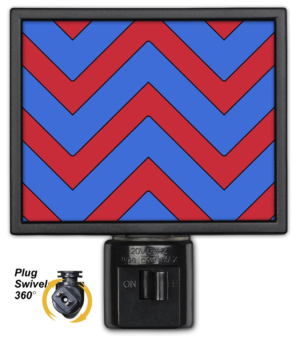 Art Plates NL-812 Blue /& Red Chevron Night Light