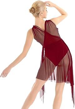 YOOJIA Mujer Vestido de Baile Latino con Flecos Vestido Danza de ...