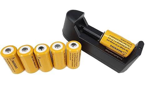Amazon.com: Sobre la way6pcs 18350 3.7 V 1200 mAh batería de ...