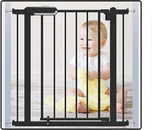 QIANDA - Valla de Seguridad para bebé, Color Negro sin Necesidad de taladrar Separador de habitación, se instala en Cualquier Lugar para escaleras: Amazon.es: Jardín