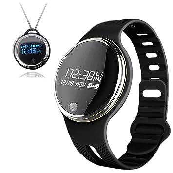 Impermeable 0.96 Pantalla táctil grande y colorida de OLED de actividad Tracker Pulsera Reloj de frecuencia cardíaca Monitorización de la presión ...