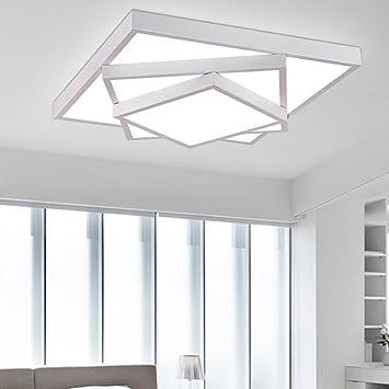 Deckenleuchte LED Dreischichtigen Rahmen Wohnzimmer Schlafzimmer Lampe  Eisen Zimmer Lampe Dekoration Beleuchtung,White