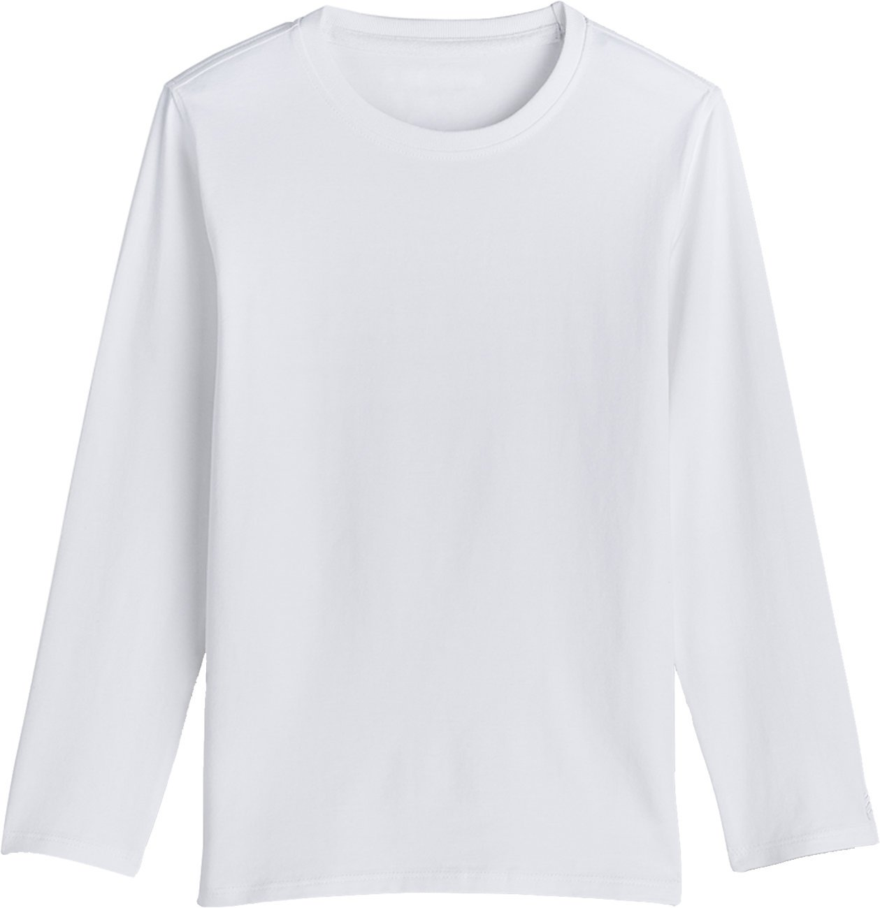 Coolibar UPF 50+ Kids' Long Sleeve Everyday T-Shirt - Sun Protective (X-Large- White)