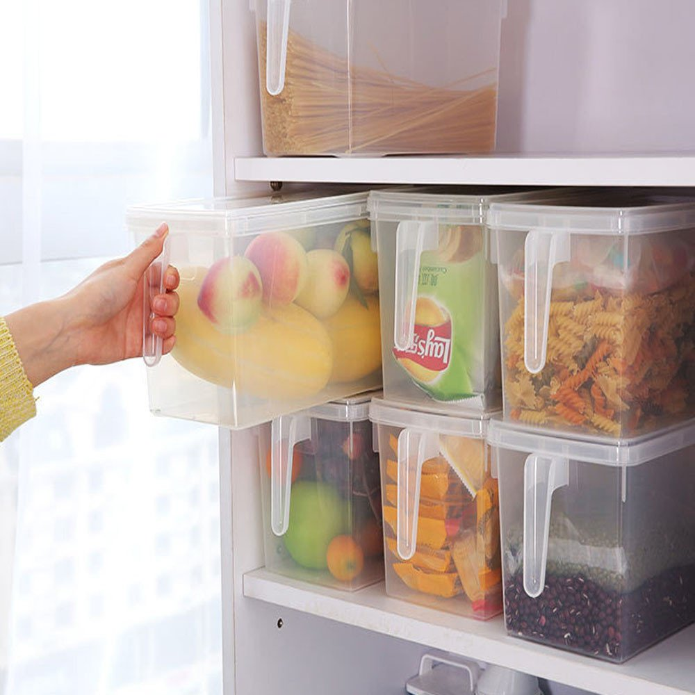 Gotian Kitchen Food Container Refrigerator Storage Box Collecting Basket Fruit Food Organiser Utility