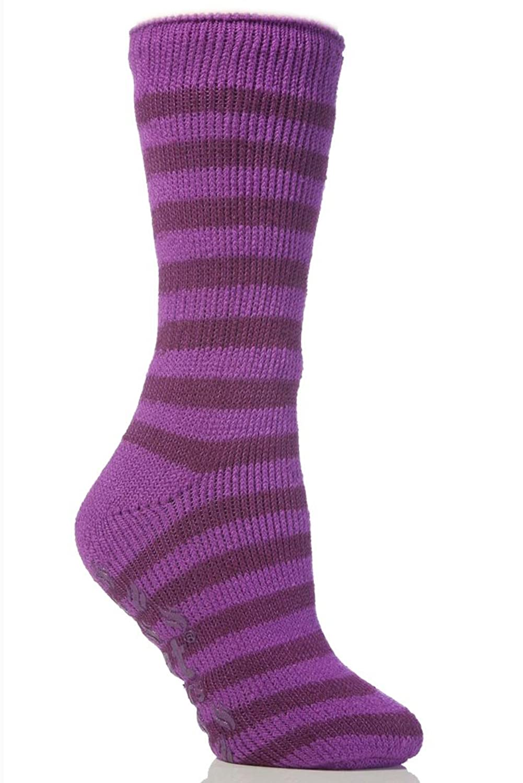 Childrens Sockshop Girls Long Heat Holders Purple 2-5.5