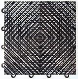 vented garage floor tiles - Black Vented Garage & Basement Drainage Floor Tile(s) 12