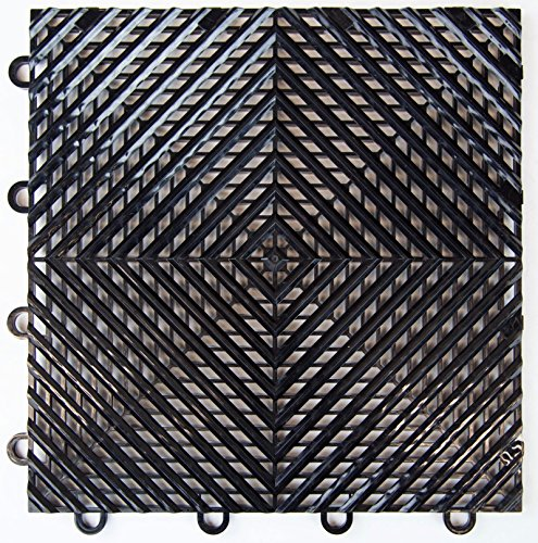 Black Vented Garage & Basement Drainage Floor Tile(s) 12