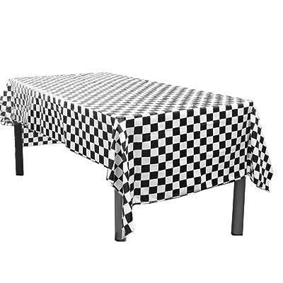 Yooyee Manteles mesa rectangular, 2 Paquetes Blanco Manteles de Plástico, 137 x 274cm Desechables Manteles, Restaurante de boda Banquete Decoración: Hogar
