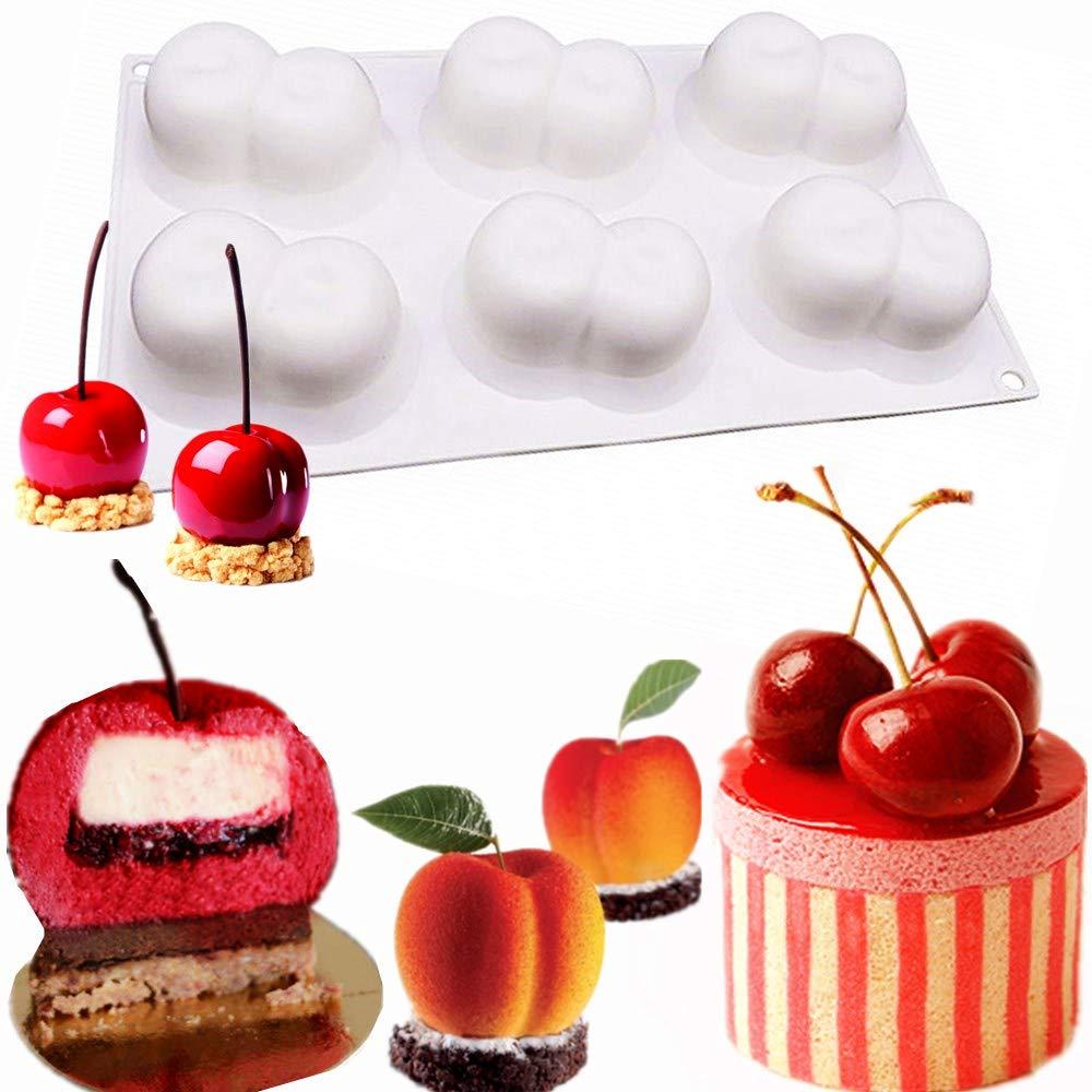 dise/ño de cerezo franc/és Moldes 3D para tartas JeVenis