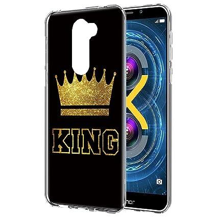 YOEDGE Funda Honor 6X, Silicona Ultra Slim Cárcasa con King Queen ...