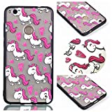 Huawei P8 Lite 2017 Case, Ngift [Love Unicorn] [2 in 1] [Scratch Resistant Anti-fall] fashion Soft TPU Shockproof Case Cover for Huawei P8 Lite 2017