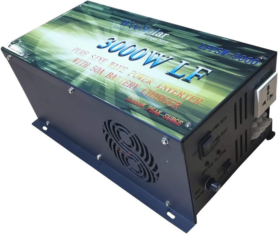 POWER JACK WccSolar Inverter 3000w Inversor Onda Pura Convertidor 24v to AC 220V Inverter Pure were Solar