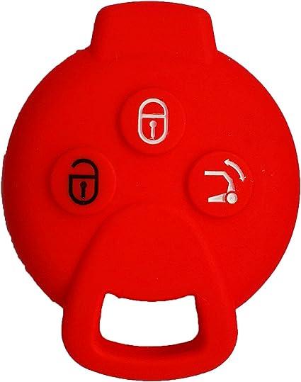 Rojo JenNiFer Para Benz Smart Fortwo 2009-2014 Silicona Gear Pomo Cubierta Cambio Guante Piel Caso Protector