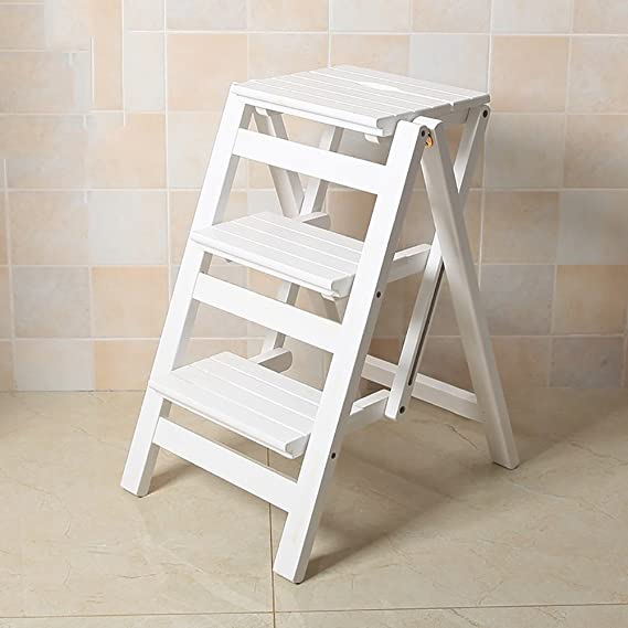 Amazon.com: Ping Bu Qing Yun Pine Wood 3 Step Stool for Adults ...