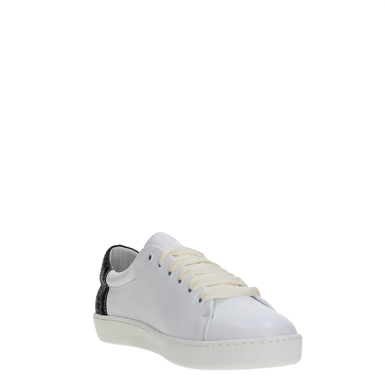 844a6f1c Frau 41A2 Blancos Zapatos de Mujer Negro Zapatillas de Cordones de Cuero  7Iqo48K