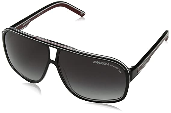 4d7e5a9319 Amazon.com  Carrera Grand Prix 2 T4O Black White Red Grand Prix 2 Square  Pilot Sunglass  Carrera  Sports   Outdoors