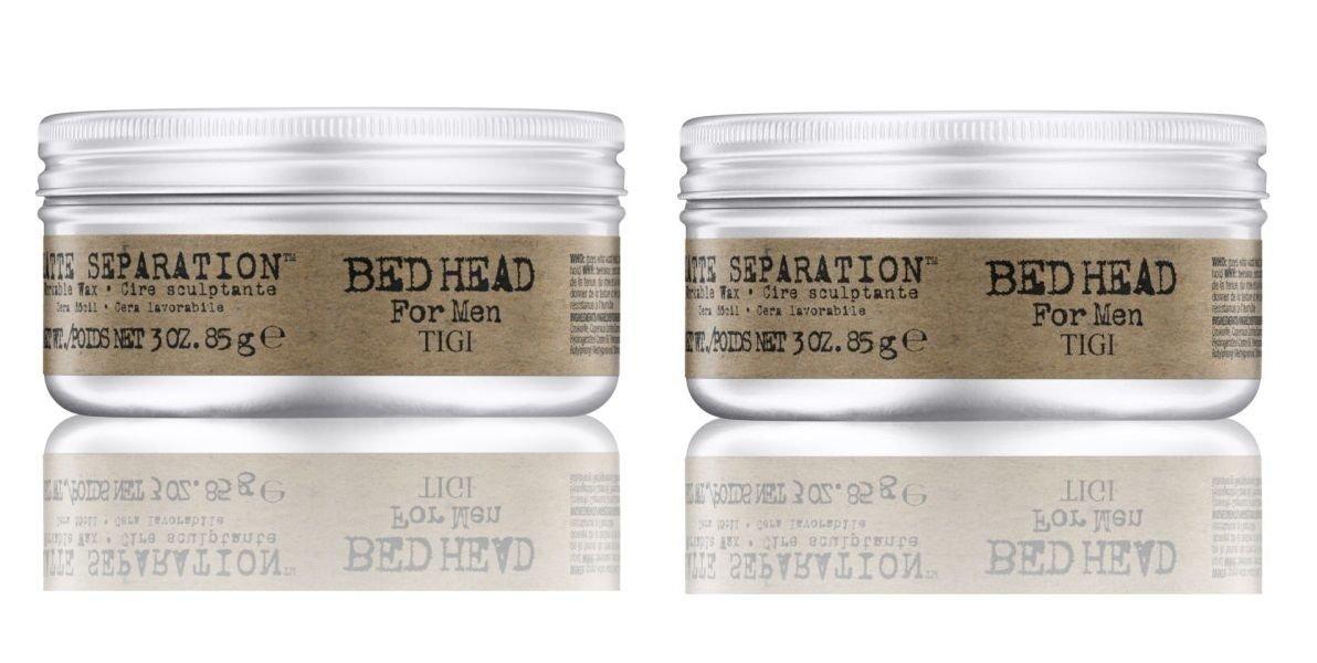 TIGI Bedhead for Men Matte Separation Workable Wax-2.65 oz. (Quantity of 2) by TIGI