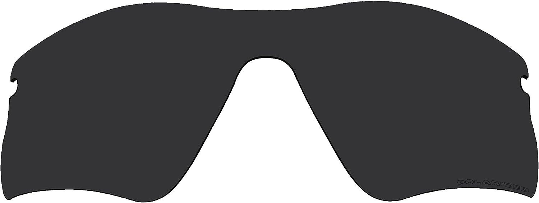 Replacement Lenses Polarized Stealth Black for Oakley Radar Range Sunglasses
