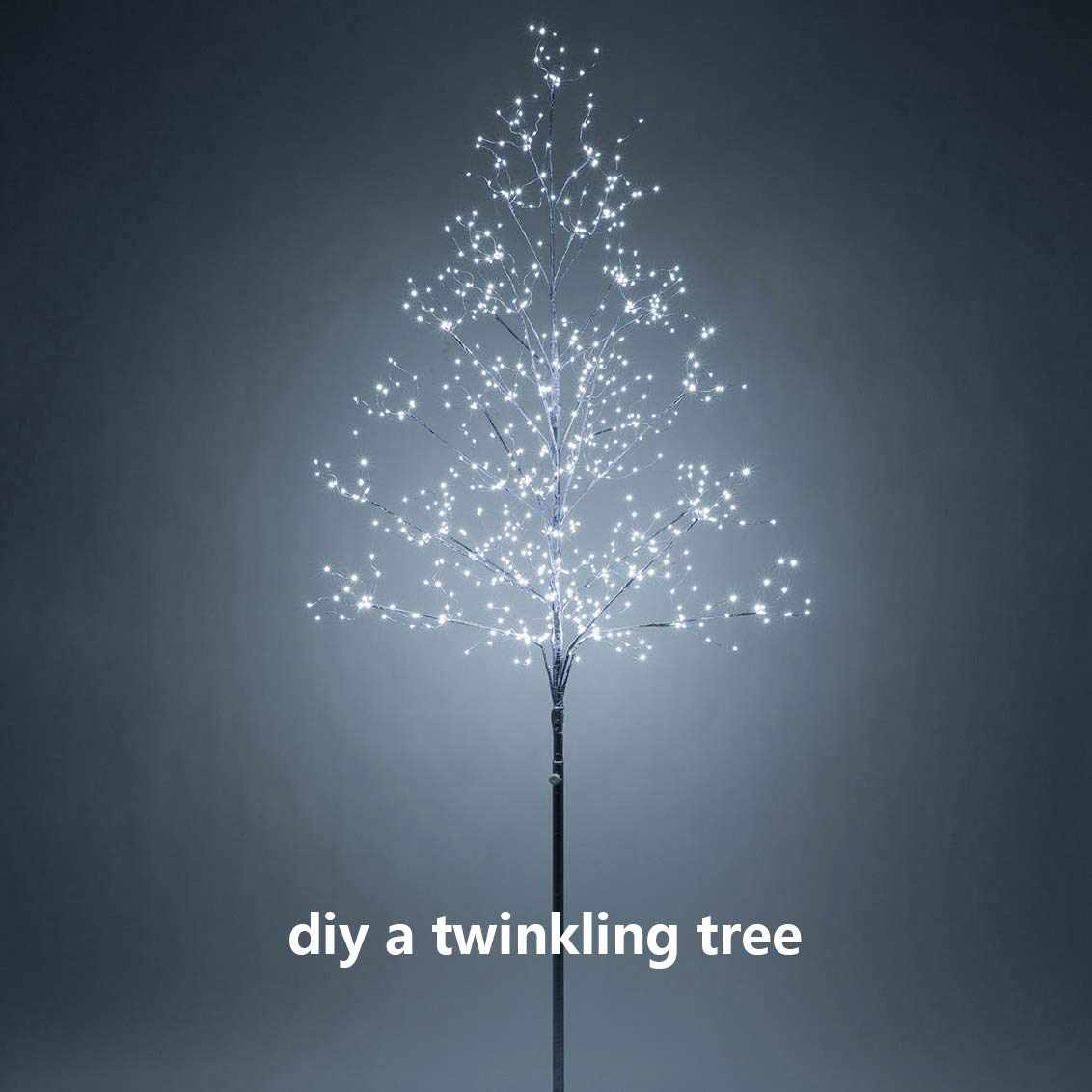 CocoSeclected Blue Twinkling Fairy Lights USB Powered,33ft 100 Micro LEDs String Twinkle Lights with Remote Teen Girls Bedroom Decor Kids Night Light .
