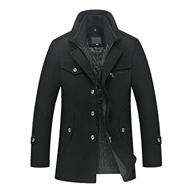78f45320c Thankstop Jacket for male Men s Winter Padded Wool Jackets Coats ...