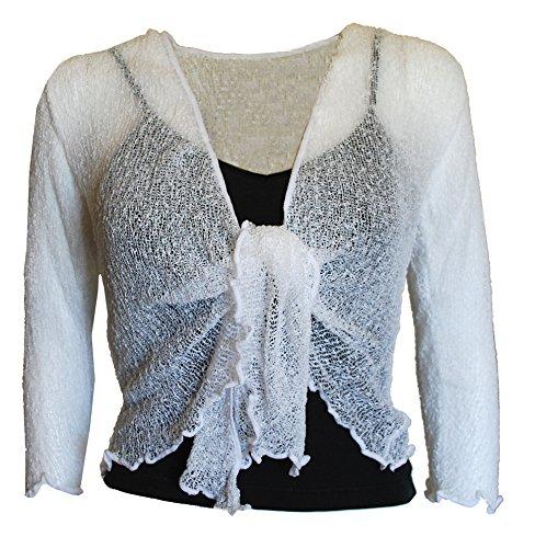 Ladies Gringo Plain Knit Cropped Shrug//Bolero Top