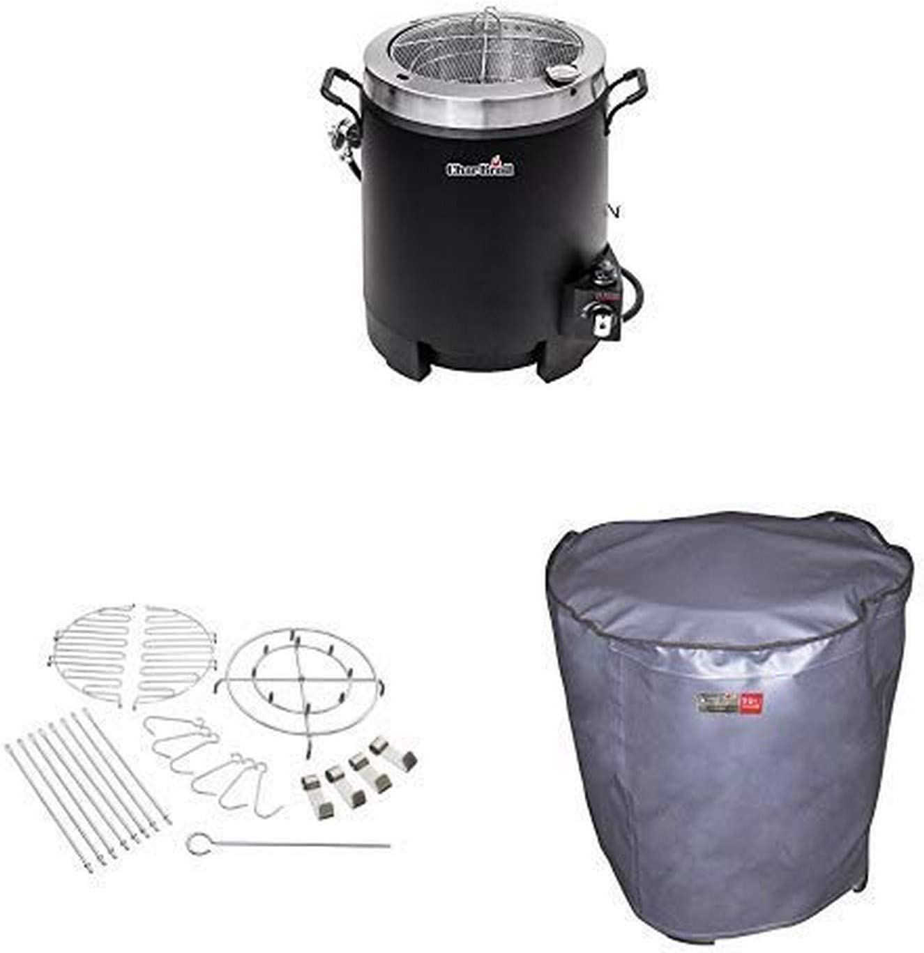 Char-Broil Big Easy Oil-less Liquid Propane Turkey Fryer with 22-Piece Accessory Kit and Cover
