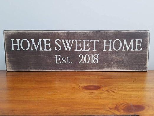 Ruskin352 Home Sweet Home EST 2018 - Cartel de Regalo para ...